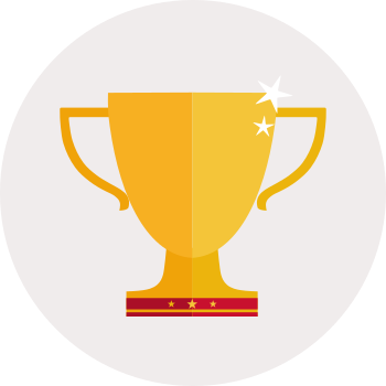 Graphic of gold trophy