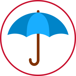 Icon of a blue umbrella
