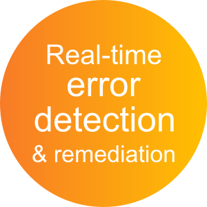 Real-time error detection and remediation with ActiveDocs Document Automation Software
