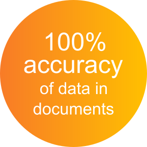 100% accuracy of data in documents with ActiveDocs Document Automation Software