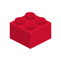 Icon of a red lego brick