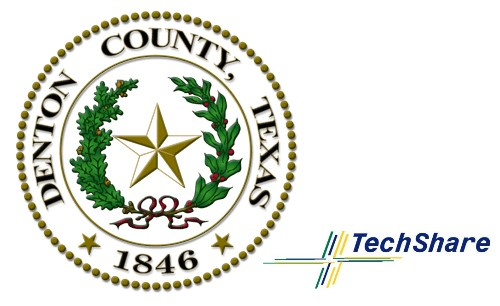 Logos of Denton County and Techshare