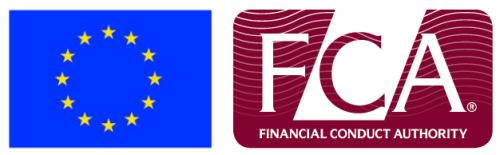 Logos of the FCA and European Union