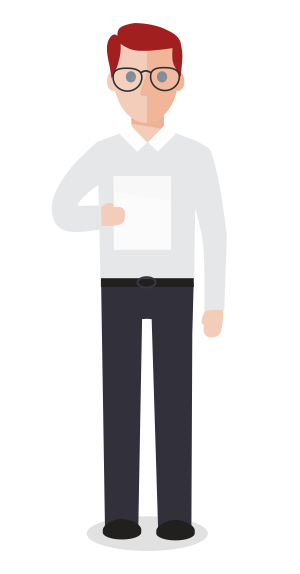 Businessman holding a document