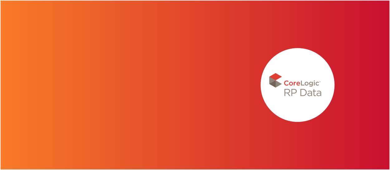 Orange and red background with CoreLogic RP logo