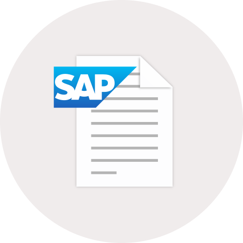 SAP and Document Icon