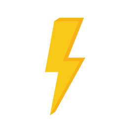 Icon of a gold lightning bolt.