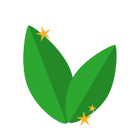 Icon of green leaves