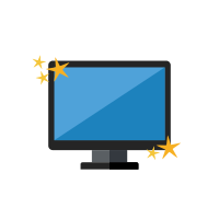 Icon of a shiny computer monitor