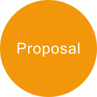 Dark yellow circle with the term PROPOSAL