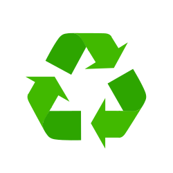 Icon of a green recycling sign